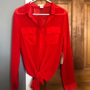 Tops - New red blouse